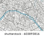 black and white vector city map ... | Shutterstock .eps vector #603893816