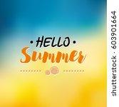 enjoy the summer time logo... | Shutterstock .eps vector #603901664