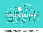 creative infographic banner... | Shutterstock .eps vector #603906674