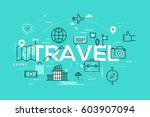 modern infographic banner with... | Shutterstock .eps vector #603907094