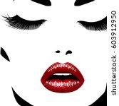 woman's face. vector...   Shutterstock .eps vector #603912950