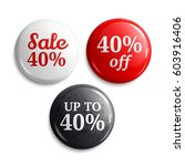 40 percent discount on glossy...   Shutterstock .eps vector #603916406