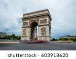 arc de triomphe in paris  | Shutterstock . vector #603918620