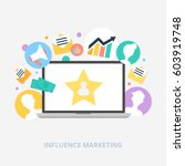 influence marketing vector... | Shutterstock .eps vector #603919748