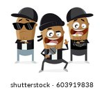 funny cartoon of gangster... | Shutterstock .eps vector #603919838