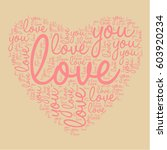 "vector letters ""love you"" text... 