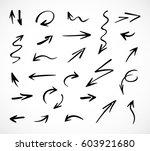 hand drawn arrows  vector set   Shutterstock .eps vector #603921680