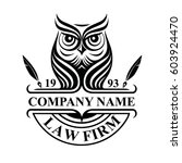 law firm logotype with owl.