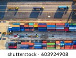 container container ship in... | Shutterstock . vector #603924908