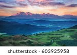 summer mountain landscape in... | Shutterstock . vector #603925958