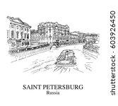 saint petersburg  russia  view... | Shutterstock .eps vector #603926450