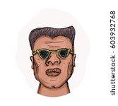 african american man in glasses ...   Shutterstock .eps vector #603932768