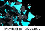 abstract polygonal background.... | Shutterstock . vector #603932870