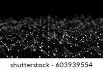 futuristic network shape. 3d... | Shutterstock . vector #603939554