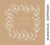 floral white ornamental square...   Shutterstock .eps vector #603940664