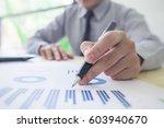 business team meeting working... | Shutterstock . vector #603940670