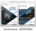 blue triangle vector brochure... | Shutterstock .eps vector #603943283
