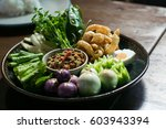 vegetable stews and thai chili... | Shutterstock . vector #603943394