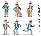 sailor cartoon character set.... | Shutterstock .eps vector #603944576