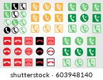 set of phone icon trendy flat...
