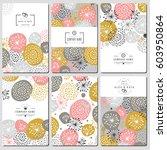 set of business card template... | Shutterstock . vector #603950864