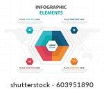 abstract colorful hexagon...   Shutterstock .eps vector #603951890