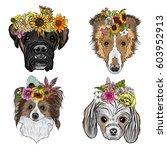 different type of cartoon dogs... | Shutterstock .eps vector #603952913