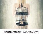 prisoner of itself surreal... | Shutterstock . vector #603952994