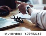 young business men explaining...   Shutterstock . vector #603953168