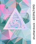 geometric art print  abstract... | Shutterstock .eps vector #603967490
