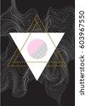 geometric art print  abstract... | Shutterstock .eps vector #603967550