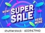 shopping banner template. sale... | Shutterstock .eps vector #603967940