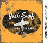 set of summer   surfing design  ...   Shutterstock . vector #603974084