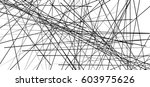 random chaotic lines abstract... | Shutterstock . vector #603975626