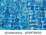 blue color water in swimming... | Shutterstock . vector #603978650