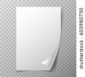 page curl on transparent...   Shutterstock .eps vector #603980750