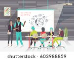 concept of business... | Shutterstock .eps vector #603988859