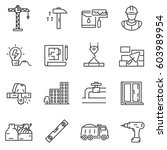 building construction icons set.... | Shutterstock .eps vector #603989954