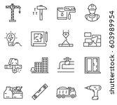 building construction icons set.... | Shutterstock .eps vector #603989954