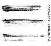set of ink vector brush strokes.... | Shutterstock .eps vector #603991820