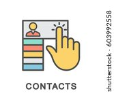 icon contacts. the interface of ... | Shutterstock .eps vector #603992558