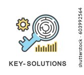 icon key solutions. the key is... | Shutterstock .eps vector #603992564