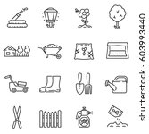 gardening icons set. care and... | Shutterstock .eps vector #603993440