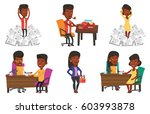 two african women during... | Shutterstock .eps vector #603993878