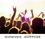 cheering crowd at a rock concert | Shutterstock . vector #603994268