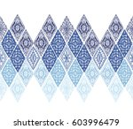 knitted seamless patterns.... | Shutterstock .eps vector #603996479