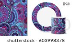hand drawn colorful pattern... | Shutterstock .eps vector #603998378