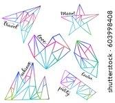 set of vector geometric... | Shutterstock .eps vector #603998408