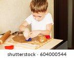 children's hands make... | Shutterstock . vector #604000544