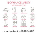 workplace safety and personal... | Shutterstock .eps vector #604004906